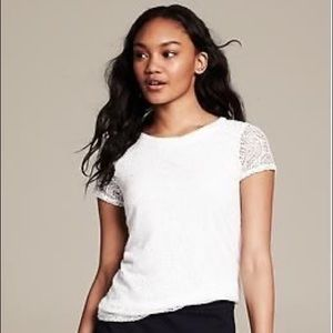 New Banana Republic Lace Top White
